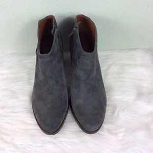 Lucky Brand charcoal gray leather booties. Nice!